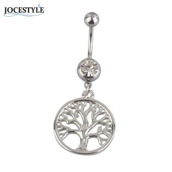 ac DCCKO2Q Tree of Life Dreamcatcher belly button piercing Navel Piercing Body Jewelry plugs and tunnels piercing nombril bikini accessory