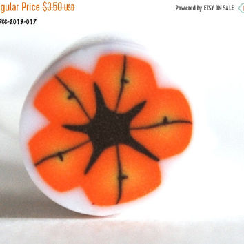 On Sale Orange and Yellow Raw Polymer Clay Cane for Bead Making Unbaked Fimo