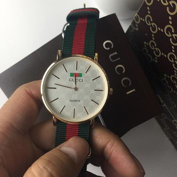 GUCCI Woman Men Fashion Quartz Movement Watch Wristwatch