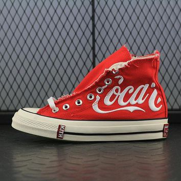 Converse Kith x Coca-Cola x Converse Chuck Taylor All Star 1970s Fashion Canvas Flats Sneakers Sport Shoes Red
