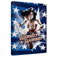 Wonder Woman Ripped Flag Stretched Canvas Wall Art