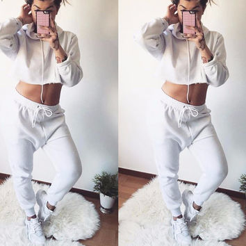 Amelia Crop Top Sweat Set