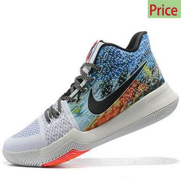 Factory Authentic Kyrie Irving Shoes 2017 Kyrie 3  Tie Dye Effect sneaker