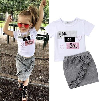 Shirt And Skirt Sets Toddler Girls Clothes