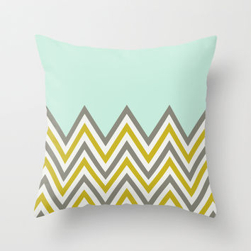 CLASSY CHEVRON Throw Pillow by Allyson Johnson
