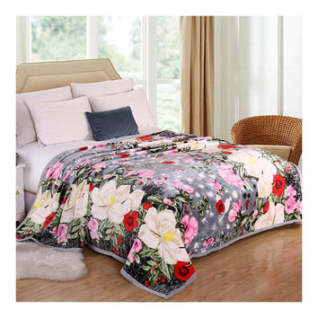 Lotus Pool Moonlight Classical Checks Thick Mink Cashmere Flannel Blanket Throw Gift Child Single Queen   200x230cm