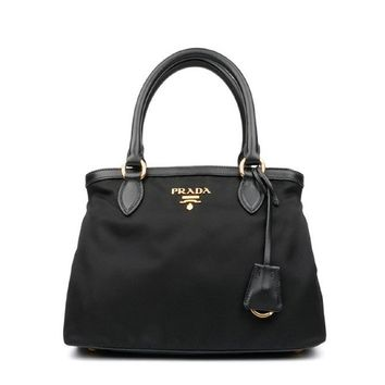 Prada Women's Black Bauletto Handbag 1BB797