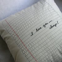 Custom Notebook Paper Pillow by designlab443 on Etsy