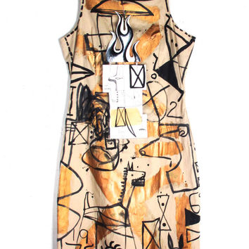 'Jody MORLOCK' Hand Painted Dress | Patricia Field