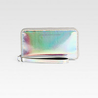 Marc by Marc Jacobs - Techno Holographic Leather Wingman Wristlet