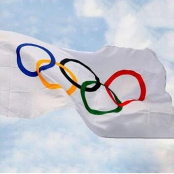 VANCHOR The Olympic Rings Flags 3 x 5 Ft Banner for 2016 BRAZIL Rio Olympic Games