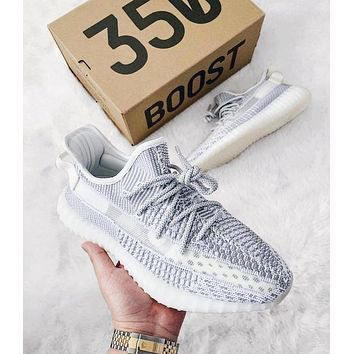 Adidas Yeezy 350V2 Boots Static Trending Women Men Stylish Sport Running Shoes Sneakers I/A