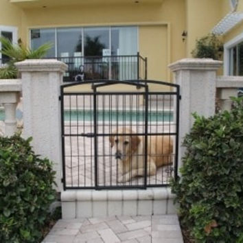 DOG CONTAINMENT - GATES - WEATHER PROOF EXPANDABLE XTALL - MFG DISCO 11/2016 - CARLSON PET PRODUCTS - UPC: 891618001820 - DEPT: DOG PRODUCTS