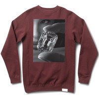 Focus Crewneck Sweatshirt in Burgundy