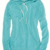 AEO Women's Weekend Hoodie T-shirt (Tidal Blue)