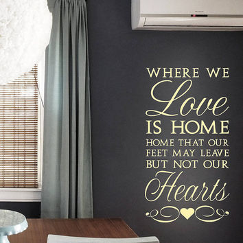 Wall Decal Vinyl Sticker Decals Art Decor Design Beautiful Words Quote Letters Love Home Hearts Family House Gift Living Room Bedroom (r630)