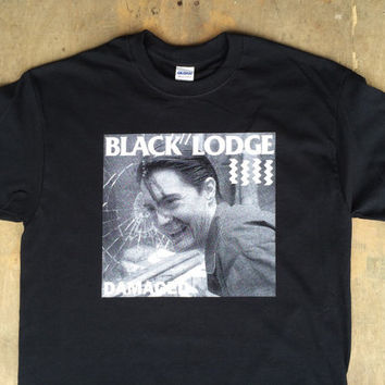 Black Lodge Damaged : TP / Black Flag Tee Shirt