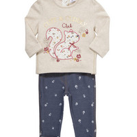 F&F Squirrel Sweater and Jeggings Set