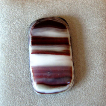 Red, Black, Gray and White Fused Glass Cabochons, DYI Art Glass Pendants, Bracelets,   B1