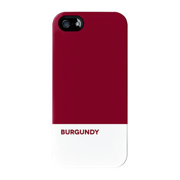 Plain Burgundy Full Wrap Premium Tough Case for iPhone 5 / 5s by UltraCases