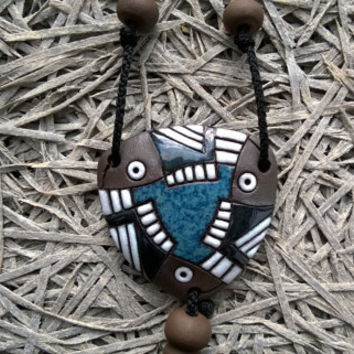 Black Blue Handmade necklace for women,men.Unisex.Fashion spring gift.Unique accessories,modern necklace,cute pendant,lovely necklace