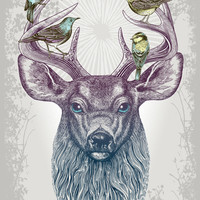Magic Buck Art Print by Rachel Caldwell