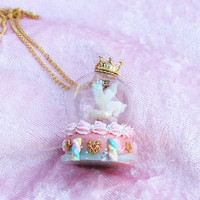 Dreamy Carousel Globe Necklace