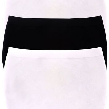 Women's 3 Pack Basic Stretch Layer Seamless Tube Bra Strapless Bandeau Top