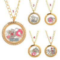 Handmade Living Floating Memory Locket Necklace Love Charms = 1705639684