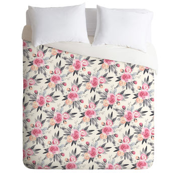 Iveta Abolina Snow Rose Duvet Cover
