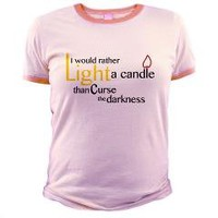 Light a Candle Words Only Jr. Ringer T-Shirt> Light a Candle Words (Ladies)> Cross Threads