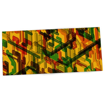 "Roberlan ""Three Dee"" Yellow Red Desk Mat"