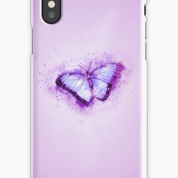 'Cute Pink Butterfly' iPhone Case by Quaintrelle
