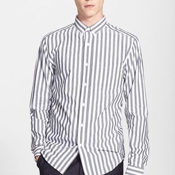 Men's AMI Alexandre Mattiussi Trim Fit Stripe Shirt,