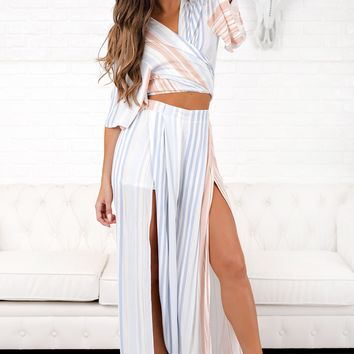 Simple Truth Striped Two Piece (Multi)