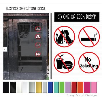 Business Storefront, Set of (4) Four