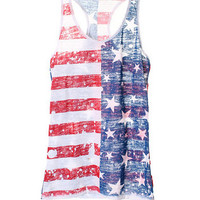 Patriotic Drip Tank - Red/White/Blue