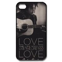 Bob Marley Hard Plastic Back Cover Case for iphone 4 4s