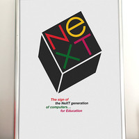 Paul Rand NeXT Computers Poster /// FREE SHIPPING WORLDWIDE