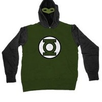 The Green Lantern Masked Costume Hoodie Sweatshirt