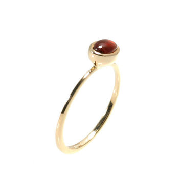 Red Garnet Engagement Ring - in a elegant design.