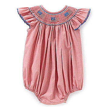 Edgehill Collection 3-24 Months Flag Smocked Bubble | Dillards.com