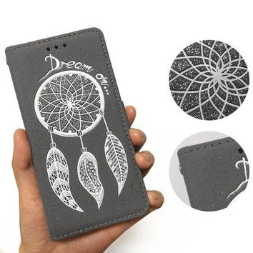ca DCCKTM4 Phone Leather Case Iphone Dream Catcher Feather Wallet [10985318855]