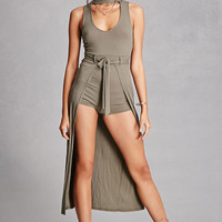 High Neck Cutout Romper