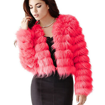 Guess Faux Fur Quilted Jacket