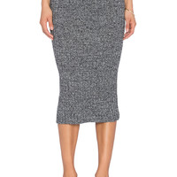 J.O.A. Knit Maxi Skirt in Charcoal