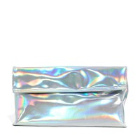 New Look Holographic Paper Bag Clutch Bag