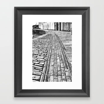 Swanage Tramway Framed Art Print by Linsey Williams Art