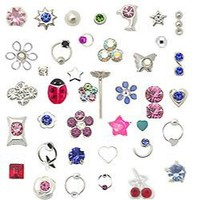 20 Pack 925 Sterling Silver Nose Studs Rings Mixed Sizes 22G