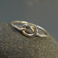 Knot ring bridesmaid gift Sterling silver by DvoraSchleffer